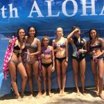 Results for the girls 17 and over Longboard  1. Mason Schremmer 2. Alicia Kelly  3. Keani Canullo 4. Maya Gryse  5. Sally Cohen and Triana La'anui  #hsasurf #surfwithaloha #hta