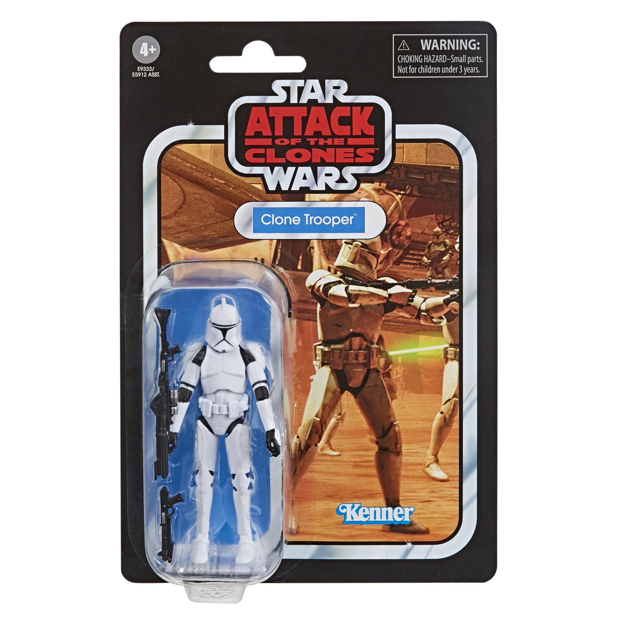 Star Wars The Vintage Collection Clone Trooper Toy 3 75 Inch Scale Star Wars Attack Of The Clones Figure Star Wars
