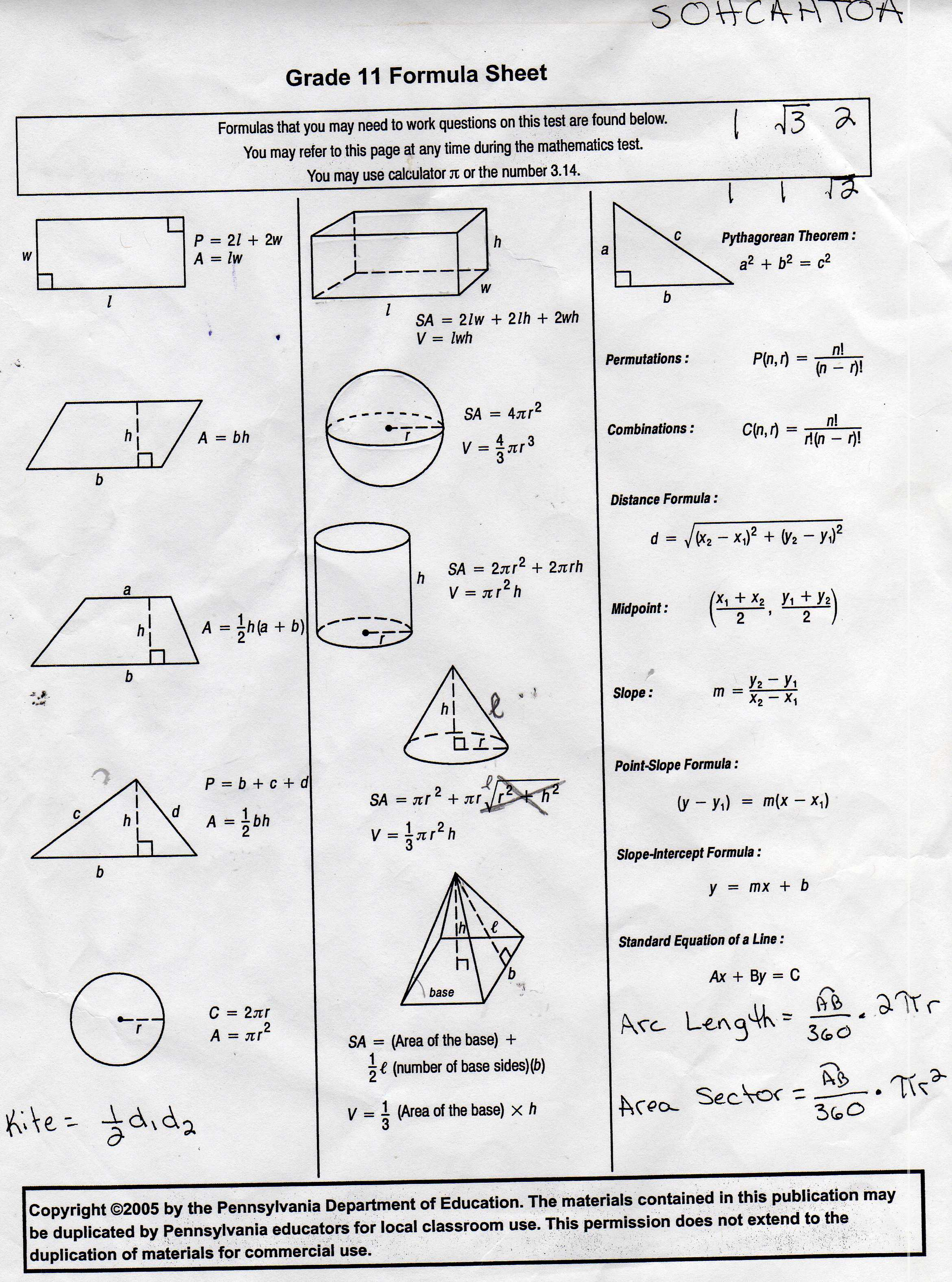Geometry Worksheets For 10th Grade