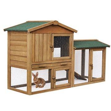 Der Songmics Kaninchenstall Hasenstall winterfest Appartement Produktdetails, Vorteile und Nachteile.