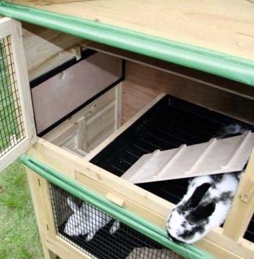 Das Kerbl Kaninchenhaus Kaninchenstall Appartement - Kaninchenstall für innen - Zwei verschiedene Etagen.