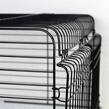 Der Wagner's Kaninchenkäfig 150 Granit-Platinum XXL ist ein großer Käfig für Kaninchen mit stabilen Gittern.