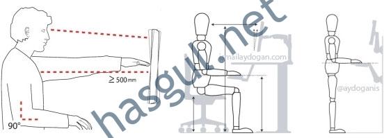 bilgisayar karşısında duruş ve oturuş