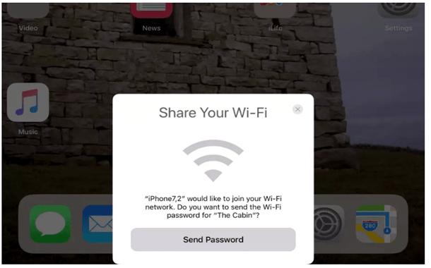 iOS 11 يقدم طريقة سهلة لمشاركة الواي فاي