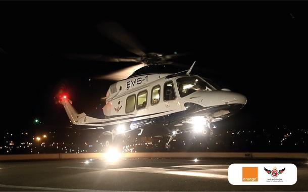 أورانج تتعاون مع الإسعاف الجوي الأردني في نقل حالة طبية حرجة