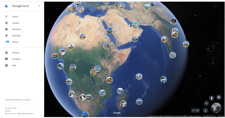 جوجل ايرث يدعم إستعراض صور مستخدميه حول العالم