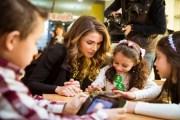 الملكة رانيا تحضر الاطلاق الرسمي لتطبيق
