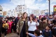 الملكة رانيا العبدالله تنضم لمجموعة الأطفال والأهالي بافتتاح حديقة في القويسمة