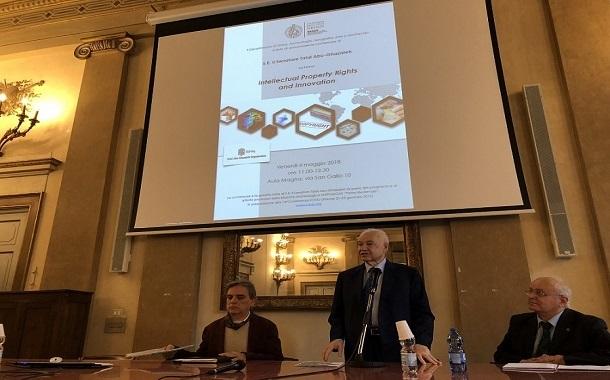 أبوغزاله في جامعة فلورنس: الملكية الفكرية والابتكار هما أساس النهوض بالعالم
