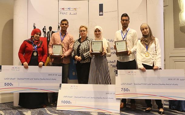 مؤسّسة إنجاز والسفارة الهولندية تكرّمان الفائزين بالمسابقة الوطنيّة للريادة المجتمعيّة