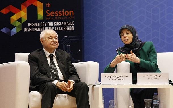أبوغزاله يشدد على ضرورة تبني التكنولوجيا كأحد المصادر