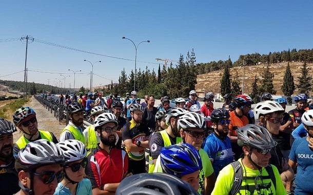 انطلاق مسيرة الدراجات الهوائية