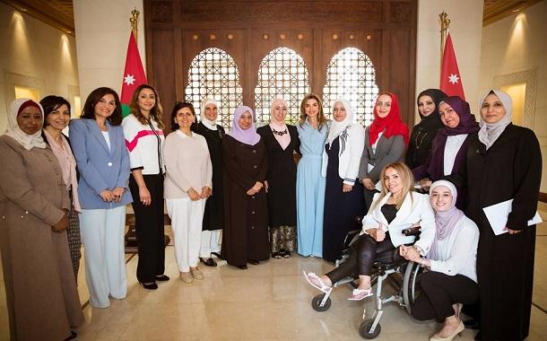 الملكة رانيا تلتقي مجموعة من السيدات الأردنيات