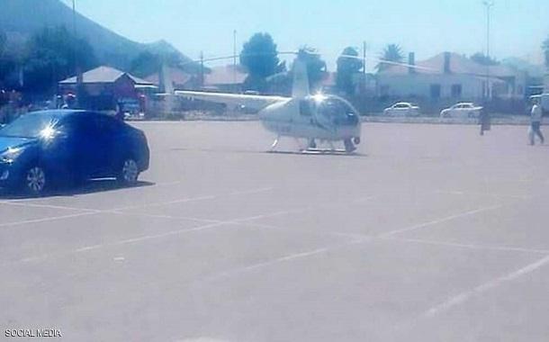 يهبط بمروحيته لشراء وجبة من