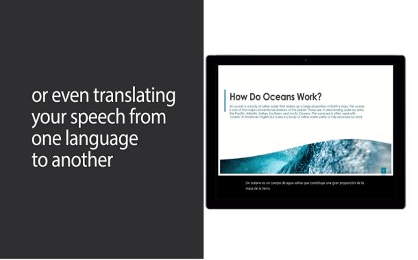 باوربوينت سيحصل على ميزة الترجمة والشرح المباشر أثناء العرض