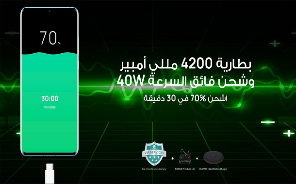 بطارية هائلة وحلول طاقة مطوّرة.......... هاتف P30 Pro الجديد من Huawei لكل ما تتمنى!