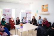 الملكة رانيا العبدالله تزور مشروع بيت الجميد الكركي
