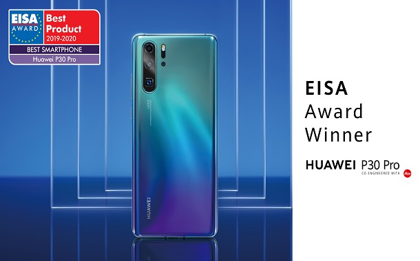 هواوي تفوز بجائزة الجمعية الأوروبية للصورة والصوت EISA للعام الثاني عن هواوي P30 Pro كأفضل هاتف ذكي