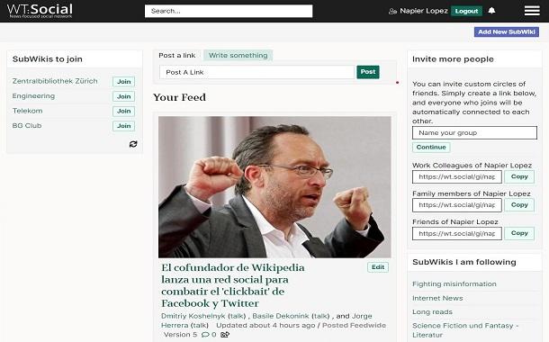 مؤسس ويكيبيديا يطلق شبكة اجتماعية بدون إعلانات