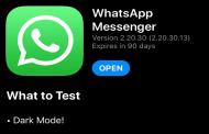 نسخة تجريبية من تطبيق واتساب قادمة بالوضع المظلم على آيفون