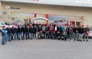 100 سيارة ومتطوعون من المركزية بدجت وتويوتا لتوزيع الخبز في جرش وعجلون