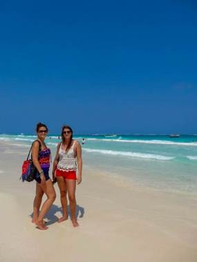 Playa Paraíso, or Paradise Beach in English, with my friend Emilie