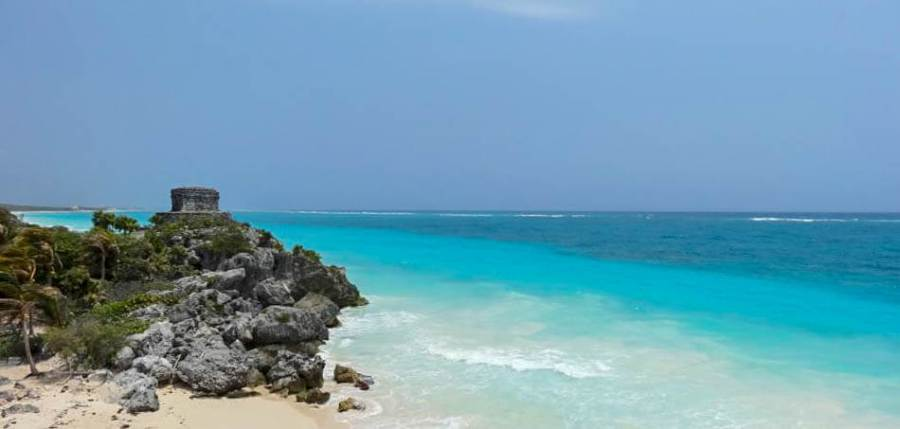 Tulum is famous for its beautiful blue water and beaches