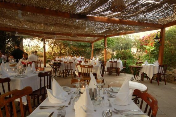 Romantic restaurant Ta' Cassia Salina on Malta is the perfect spot for couples to celebrate Valentine's Day, an anniversary, or for a group of friends to have dinner. The outside area in the garden is surrounded by plants and the food is great.