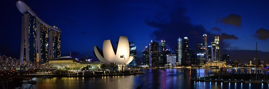 Marina Bay in Singapore is one of the most stunning, futuristic bays in the whole world