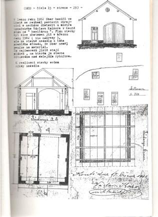 Původní návrh hasičské zbrojnice 17.3.1902