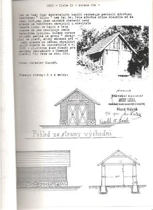 Plán 2. hasičské zbrojnice 1920-1973