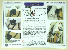 Laminated chart showing how to put on Tefillin Shel Yad