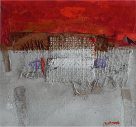 2013 30x30cm, collage and acrylic on cardboad