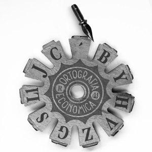 Rueda de sellos con letras