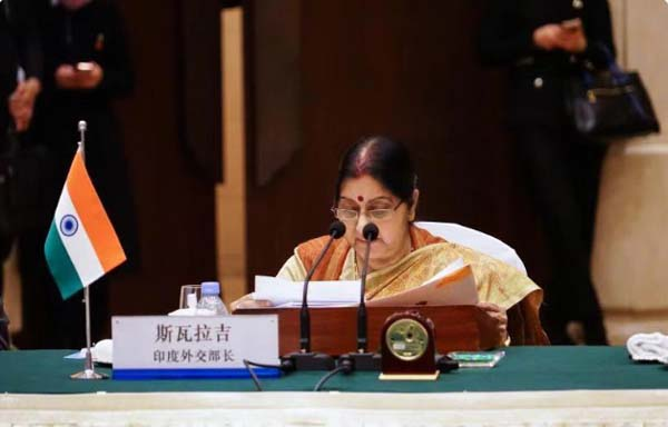 Sushma in Russia India China meeting