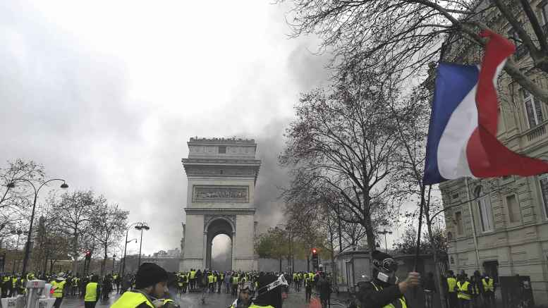 Yellow Vests protesters gather in Paris France.jpg