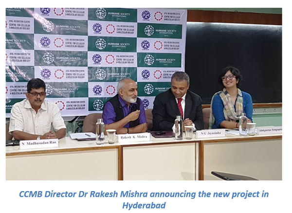CCMB Director Dr Rakesh Mishra announcing the new project in Hyderabad