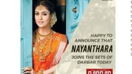 Nayanthara Joins Rajinikath On Darbar Sets