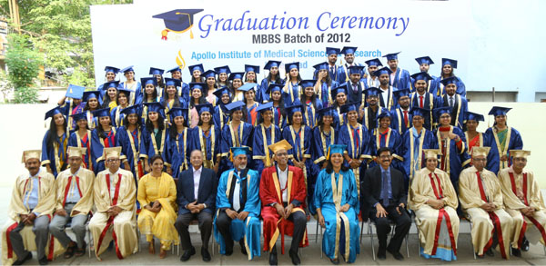 The 1st batch of Medical Graduates from Apollo Medical College, Hyderabad, pass out at a glittering Convocation Ceremony