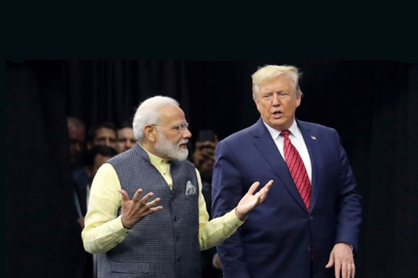 Modi and Trump in Howdy Modi at Houston