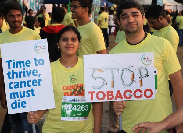 'Cancer is conquerable' message reckons across the globe, with over 20000 joining in the CANcer RUN!