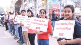 Delhi students Namaste March to ward off Coronavirus
