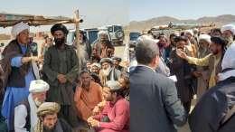 Afghan refugees, photo tweeted by Dr. Ramiz Alakbarov UN Secretary General's Deputy Special Representative for Afghanistan