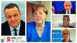 Germany's Angela Merkel speaks at IAS 2021