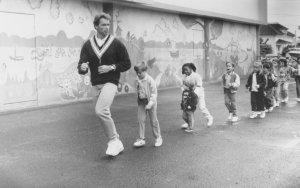 Arnold Schwarzenegger making of Um Tira no Jardim de Infância (Kindgarden Cop)
