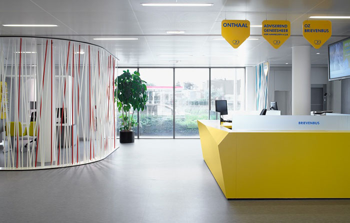Principles of Interior Design Part 3  Emphasis It s pretty obvious that Pinkeye Crossover Design Studio wanted the yellow  desk to be the focal point in their design for Oz Flagship  but they also  applied