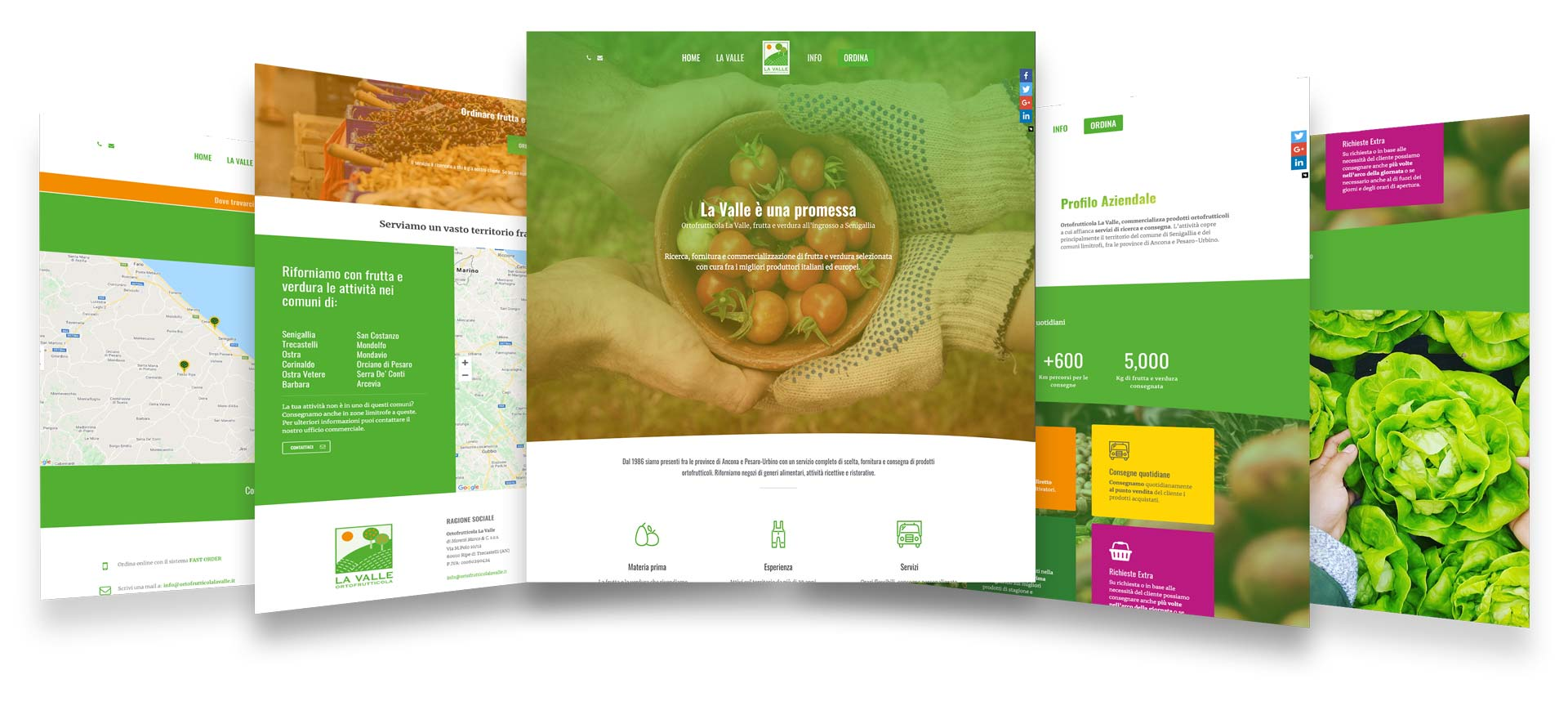 ortofrutticola la valle web design