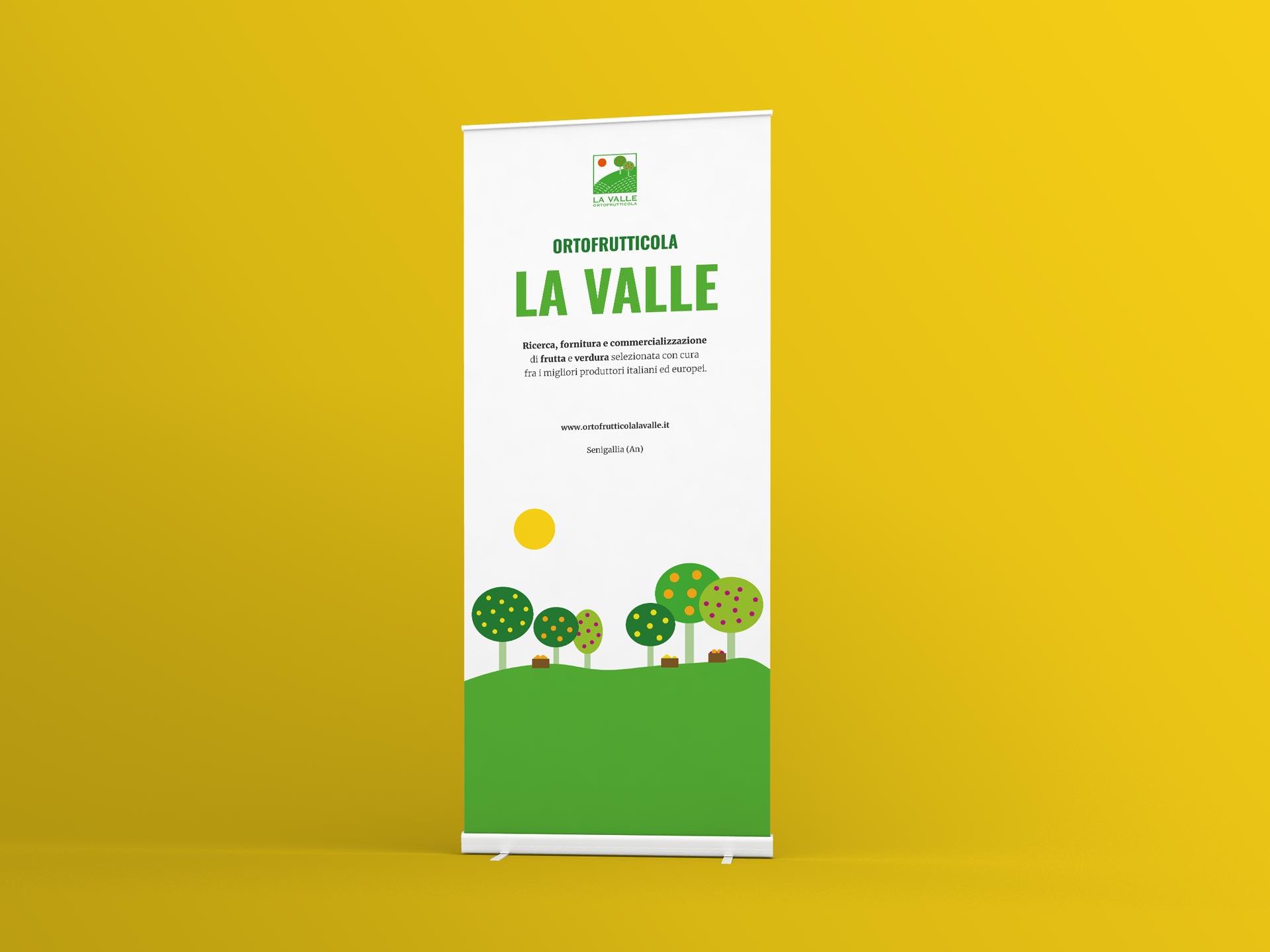 ortofrutticola la valle graphic design rollup