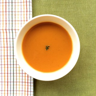ROAST BUTTERNUT SQUASH AND POTATO SOUP