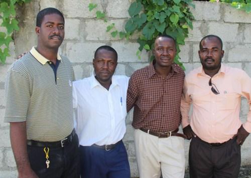 Secondary teachers - Met Eddy, Met Manigat, Met Theophil and Met Harold